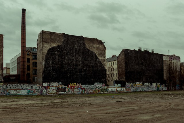 BLU murals painted black Berlin