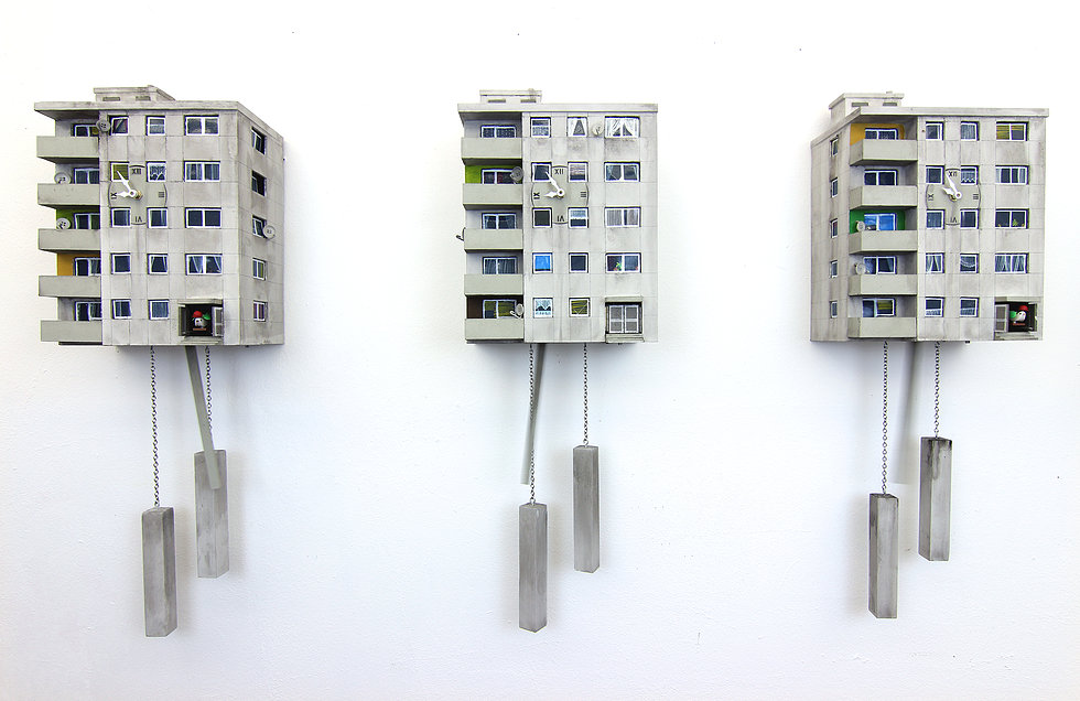 Cuckoo Blocks: Berlin Plattenbau goes Cuckoo Clock