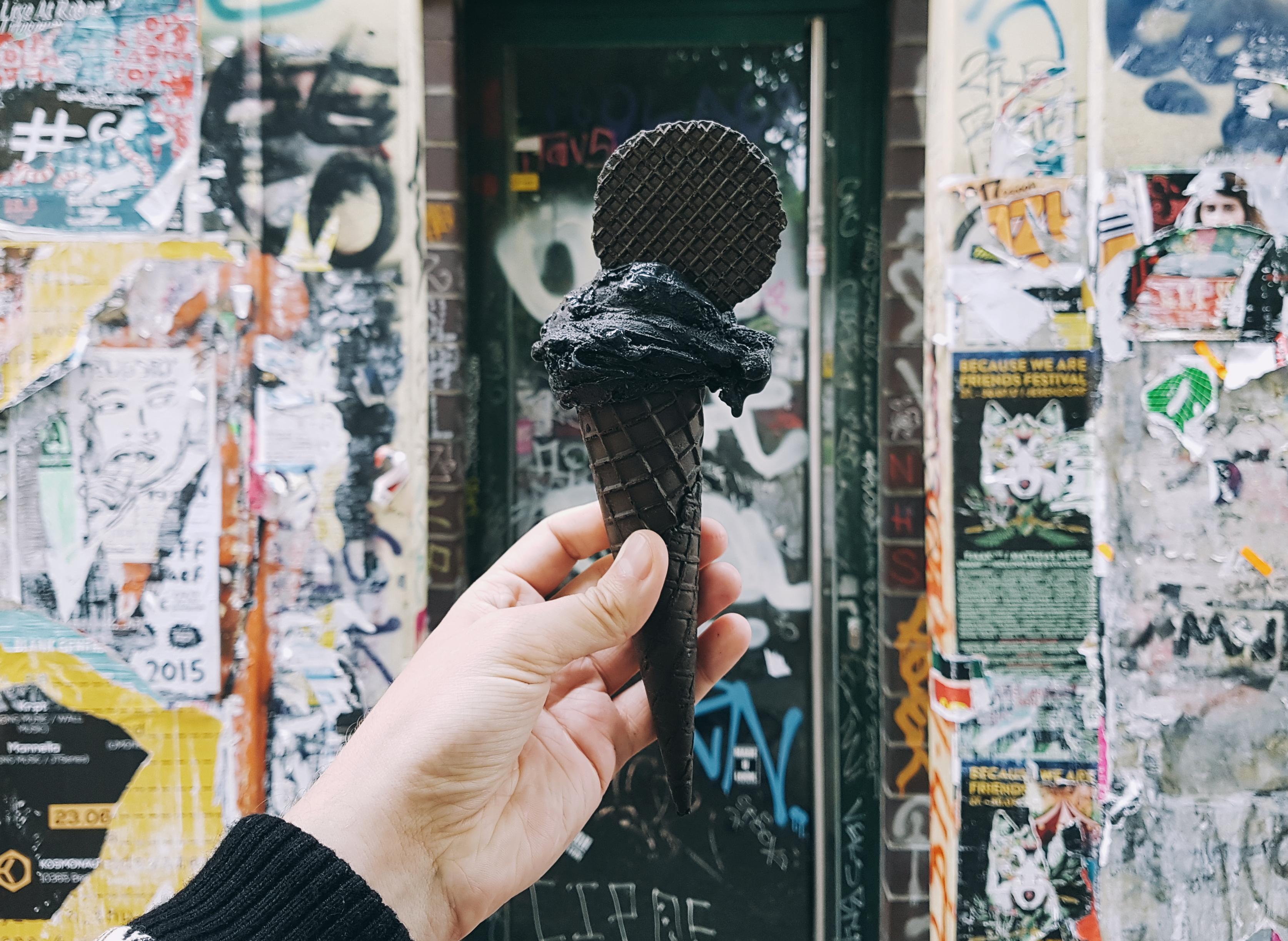 Your Berghain-style Black Ice Cream