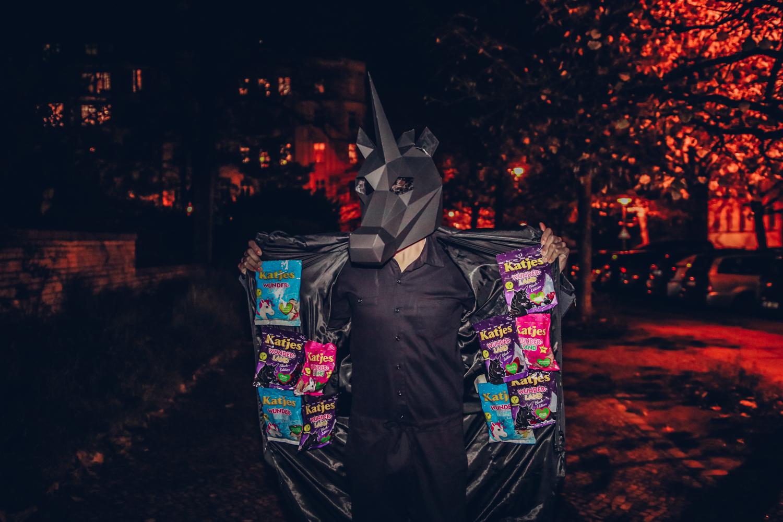 Ein Schwarzes Einhorn zu Halloween