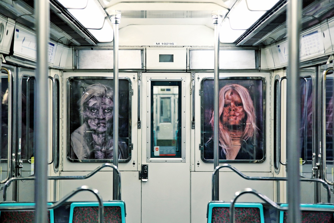 Street Art Intervention: Demonic Beauties from Berlin in the Paris Metro