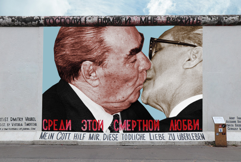 The Story Behind the Iconic Kiss on the Berlin Wall