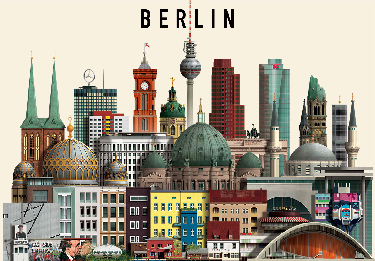 The Awesome Berlin Illustrations by Martin Schwartz