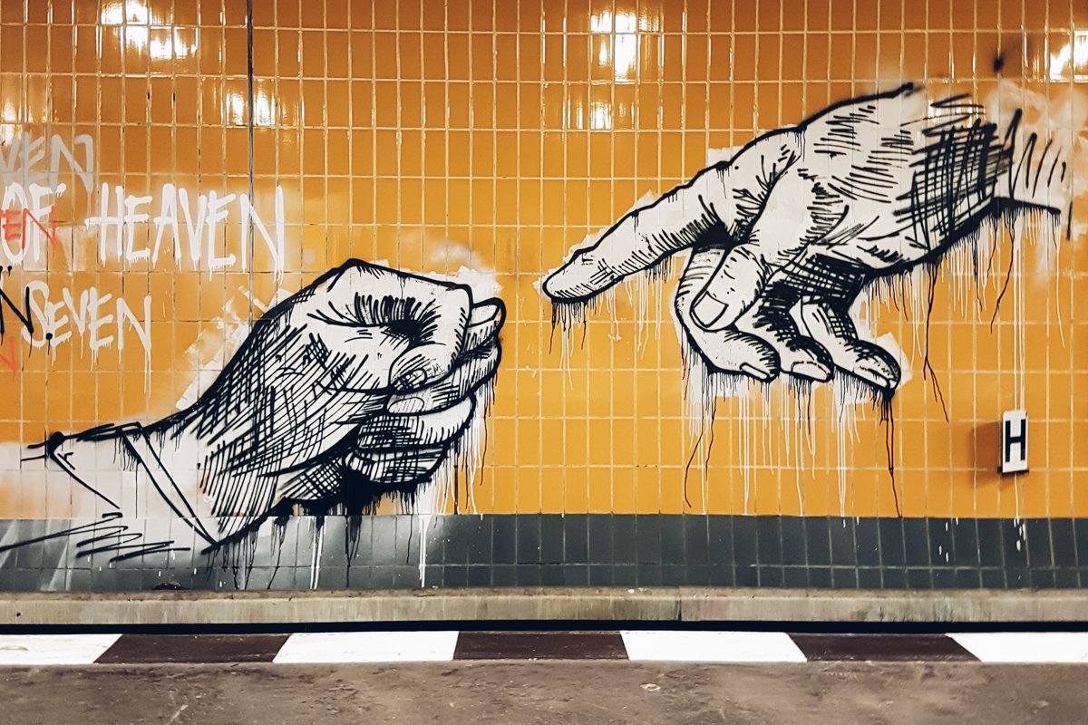 Illegal Art in a Berlin Subway Station
