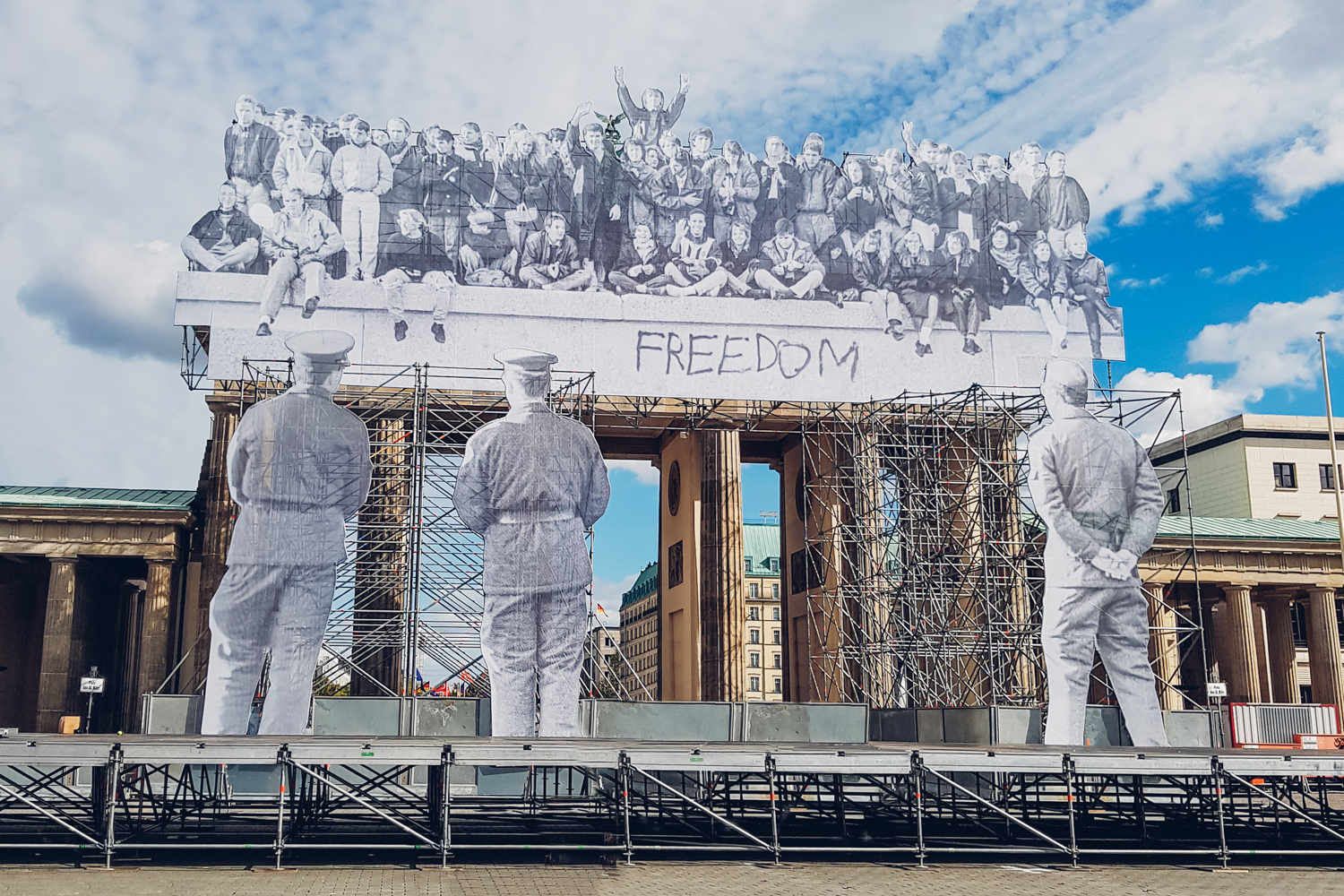 Iconic French Street Artist JR takes over Brandenburger Tor
