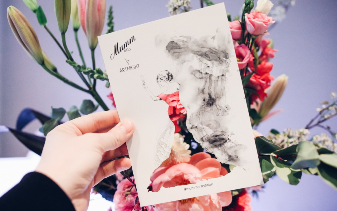 Watercolors and Bubble Fun at the Mumm ArtNight 2019