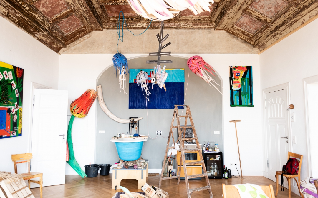 An Artist Studio Visit at the Historic Villa Heike