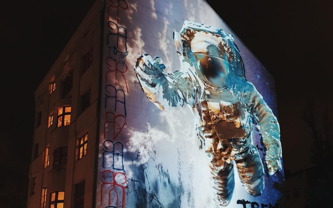Victor Ash's Cosmonaut in Kreuzberg Comes to Life