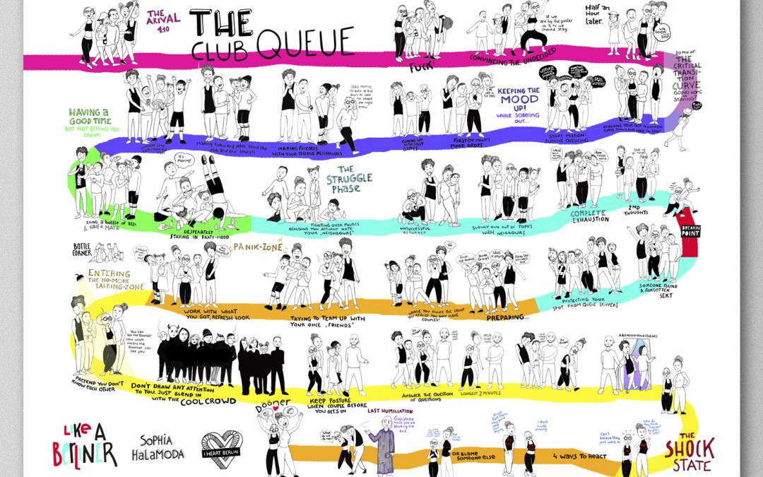 The Club Queue Poster