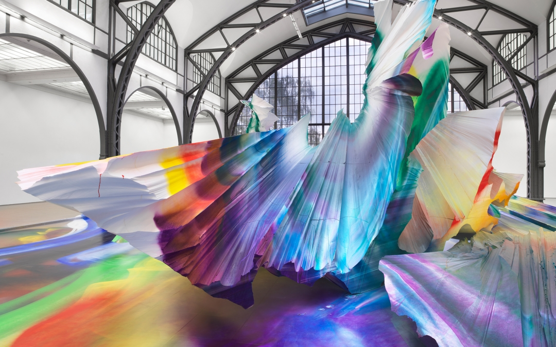 Katharina Grosse Explodes with Colors at Hamburger Bahnhof