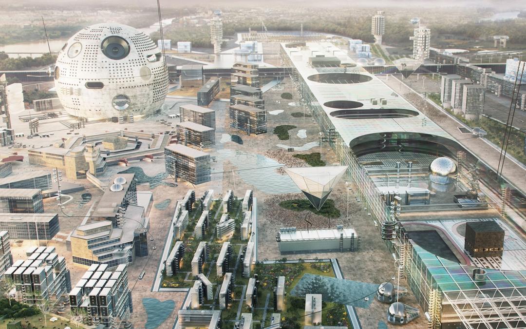 Ein Blick in die Zukunft Berlin's in den nächsten 50 Jahren