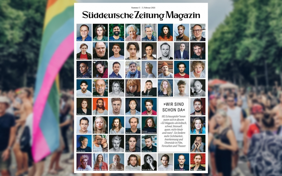They're Queer and They're Here: 185 German Actors* Coming Out Together